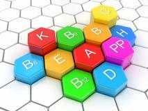 image 3d des Multi-vitamines illustration libre de droits