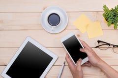 Image d'en-tête de Tablette Substance de bureau, lieu de travail, vue supérieure Photo libre de droits
