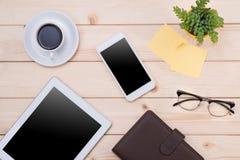 Image d'en-tête de Tablette Substance de bureau, lieu de travail, vue supérieure Photos stock