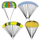 Image d'ensemble de parachute Images libres de droits