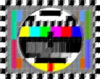 Image d'essai de TV Photos libres de droits