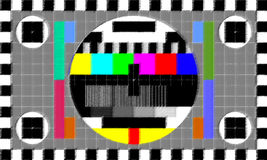 Image d'essai de TV Photographie stock