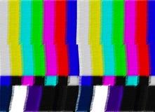 Image d'essai de TV Photo libre de droits