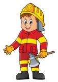 Image 1 d'homme de sapeur-pompier illustration de vecteur