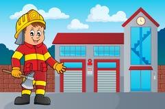 Image 3 d'homme de sapeur-pompier illustration stock