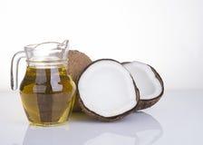 Image d'huile de noix de coco pour la thérapie alternative Images libres de droits