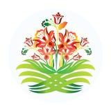 Image d'icône de carte de visite professionnelle de visite de vecteur de conception de logo d'icône de fleurs Photos stock