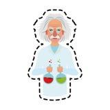 image d'icône d'Albert Einstein Photo stock