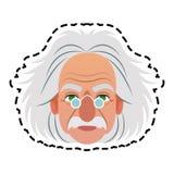 image d'icône d'Albert Einstein Image libre de droits