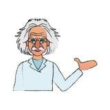 image d'icône d'Albert Einstein Image stock