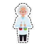 image d'icône d'Albert Einstein Photo libre de droits