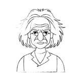 image d'icône d'Albert Einstein Photos libres de droits