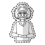image d'icône d'Albert Einstein Photos stock