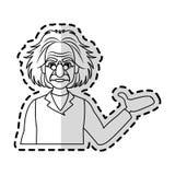 image d'icône d'Albert Einstein Images libres de droits