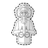 image d'icône d'Albert Einstein Photographie stock