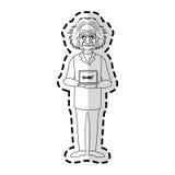image d'icône d'Albert Einstein Photographie stock libre de droits