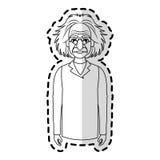 image d'icône d'Albert Einstein Images stock