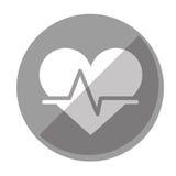 Image d'icône de cardiogramme de coeur de bande dessinée illustration stock