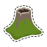image d'icône de cratère de volcan illustration de vecteur