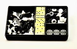 Image d'isolement Plastique réglé pour le jeu Photos stock