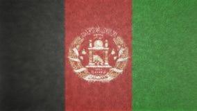 Image 3D originale du drapeau de l'Afghanistan Photographie stock libre de droits
