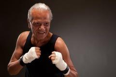 Image d'un combattant supérieur prêt à combattre Photo stock