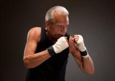 Image d'un homme supérieur dans une position de combat Photo stock