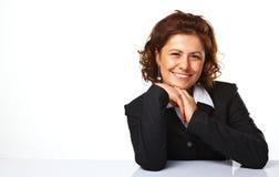 Image d'un sourire heureux de femme d'affaires Image stock