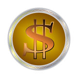 Image d'un symbole dollar Photos stock