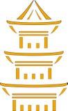 Image d'une pagoda japonaise Photos stock