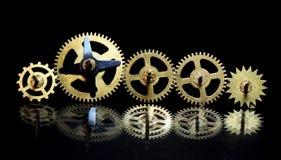 Image d'une vieille des pièces horloge Image stock