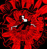 Image of dancer in red-black Stock Images