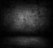 Image of dark concrete wall and floor Stock Photography
