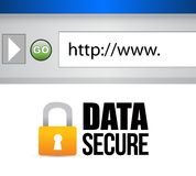 Image of a data secured message. Stock Photography