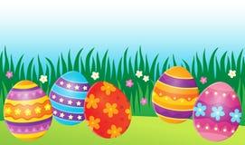 Image décorée 7 de thème d'oeufs de pâques Photos stock