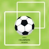 Image de ballon de football sur le fond vert, illustration, brochure illustration libre de droits