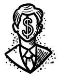 Image de bande dessinée d'homme d'affaires Icon Symbole de direction Image libre de droits