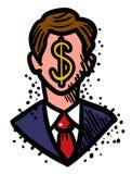 Image de bande dessinée d'homme d'affaires Icon Symbole de direction Images stock