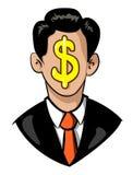 Image de bande dessinée d'homme d'affaires Icon Symbole de direction Photo stock
