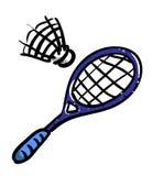 Image de bande dessinée d'icône de badminton Symbole de sport illustration libre de droits