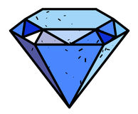 Image de bande dessinée de Diamond Icon Symbole de diamant Image stock