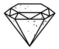 Image de bande dessinée de Diamond Icon Symbole de diamant illustration stock