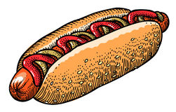 Image de bande dessinée de hot dog illustration de vecteur