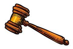 Image de bande dessinée de juge Gavel Icon Symbole de loi illustration libre de droits