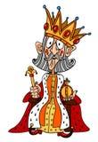 Image de bande dessinée de roi avec la couronne énorme illustration stock
