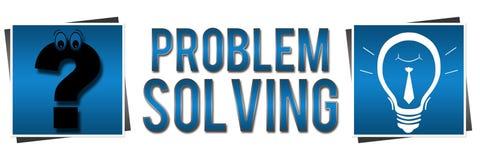 Bannière bleue de résolution des problèmes illustration libre de droits
