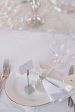Image de bel ensemble de table de mariage Photo stock