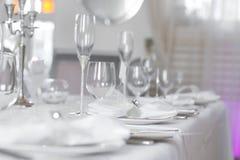 Image de bel ensemble de table de mariage Photos libres de droits