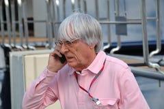 Bernie Ecclestone, patron de gestion de Formule 1 photographie stock libre de droits