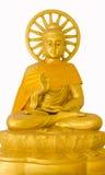 Image de Bouddha avec la roue de trains Photo libre de droits
